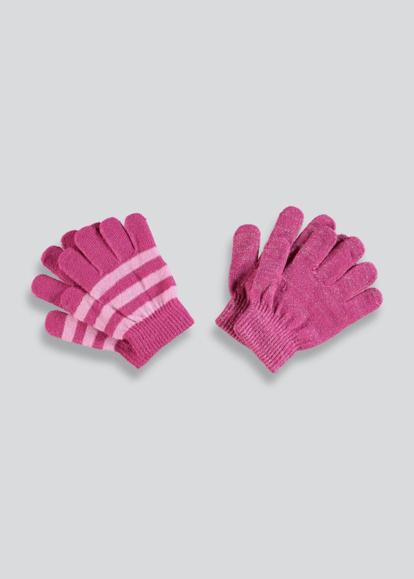 Girls 2 Pack Magic Gloves (One Size)