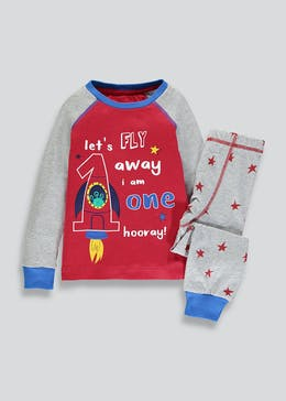 Kids I am 1 Rocket Pyjama Set (1yr)