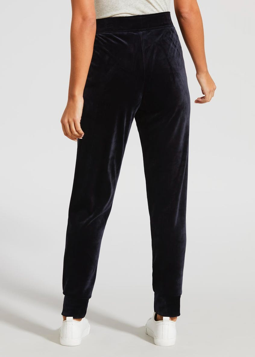 Velour Tapered Jogging Bottoms