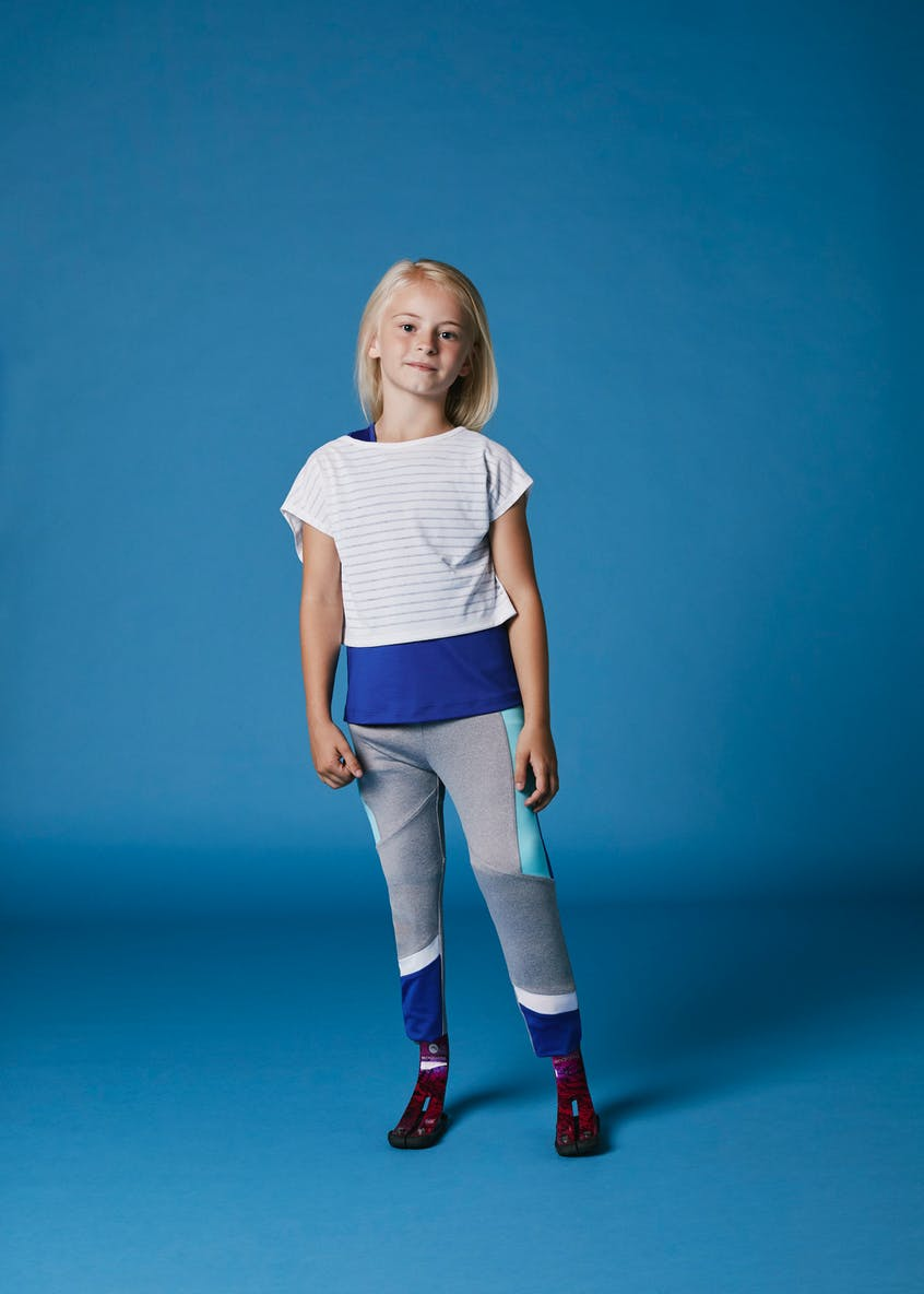 Girls Souluxe 2 in 1 Sports T-Shirt (4-13yrs)
