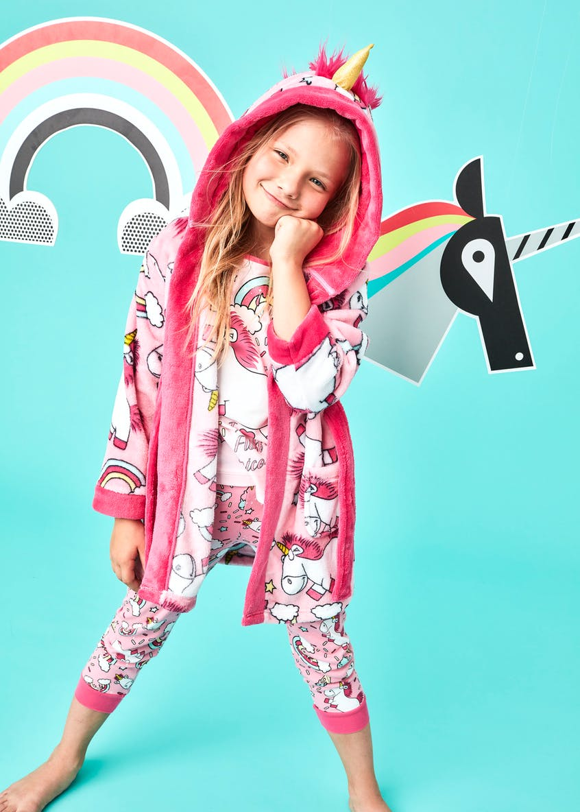 Kids Minions Fluffy the Unicorn Dressing Gown (2-9yrs)