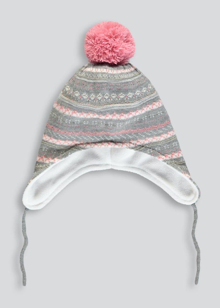 Girls Fair Isle Trapper Hat (12mths-4yrs)