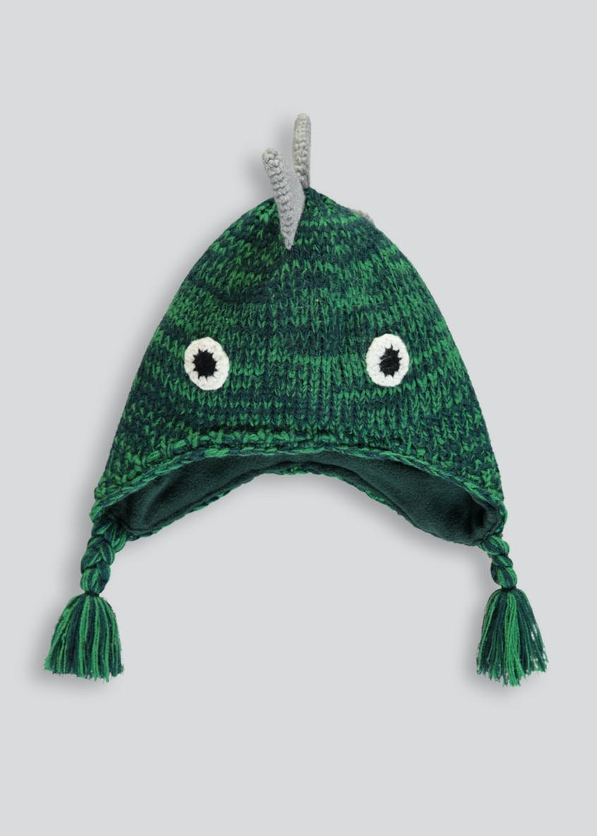 Kids 3D Dinosaur Trapper Hat (12mths-4yrs)
