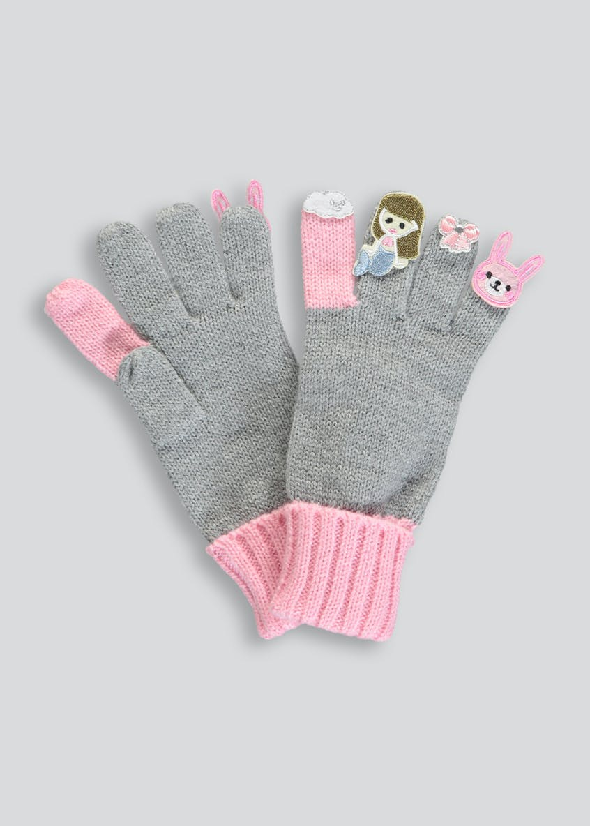 Girls Finger Puppet Gloves (3-13yrs)