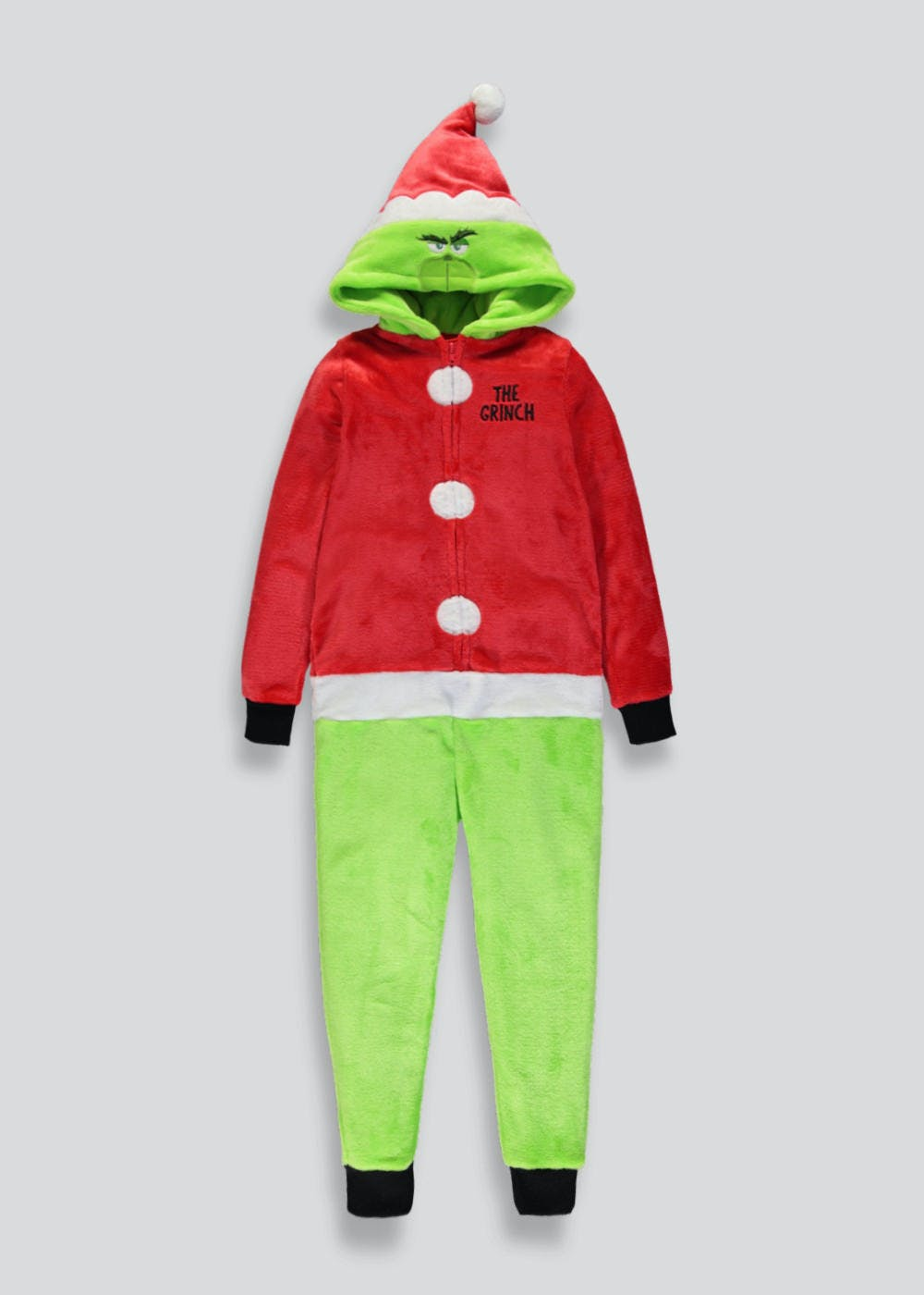 Kids The Grinch Christmas Onesie (6-13yrs) – Green – Matalan c08e63dc0297