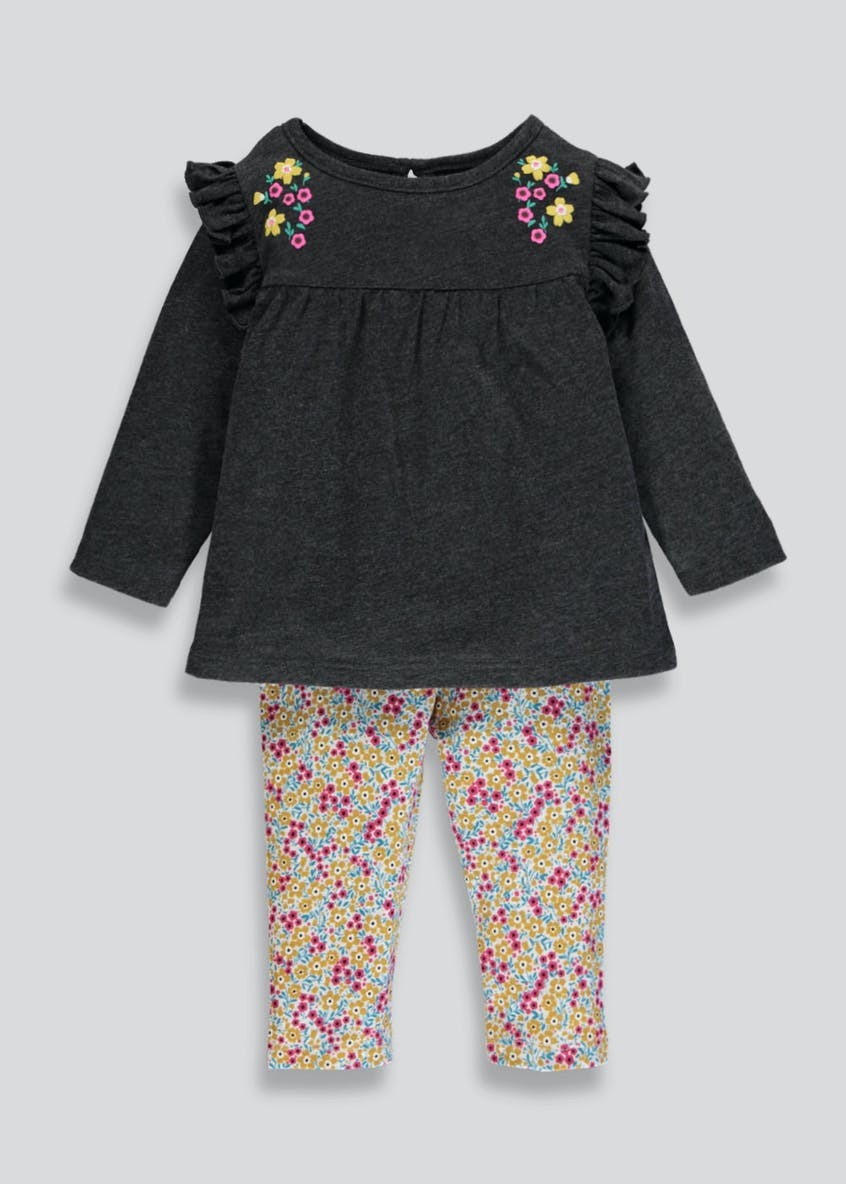 Girls Floral Top & Leggings Set (3mths-6yrs)