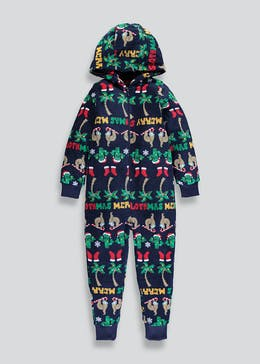 Kids Sloth Cactus Hooded Onesie (6-13yrs)