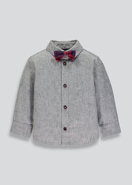 Mini Me Boys Shirt & Tartan Bow Tie Set (6mths-6yrs)