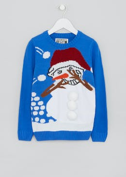 Kids 3D Snowball Christmas Jumper (4-13yrs)