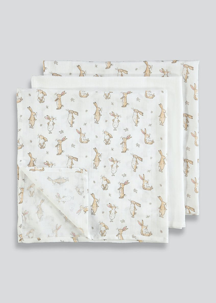 3 Pack Guess How Much I Love You Muslin Squares (One Size)
