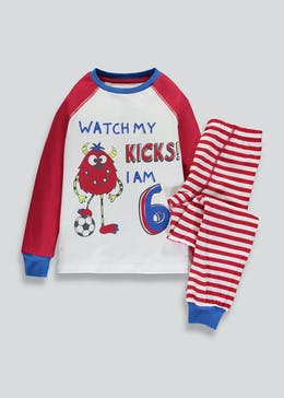 Kids I am 6 Monster Football Pyjama Set (6yrs)