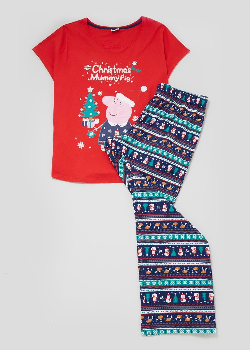 da52cff6 Family Mummy Pig Christmas Pyjama Set – Red – Matalan