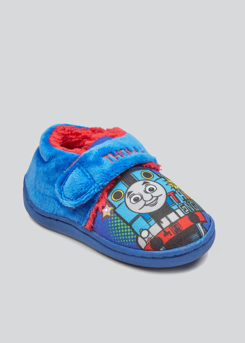 Kids Co-Ord Thomas the Tank Slippers (Younger 4-12)