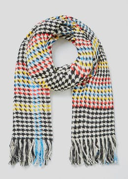 Bright Dogtooth Scarf