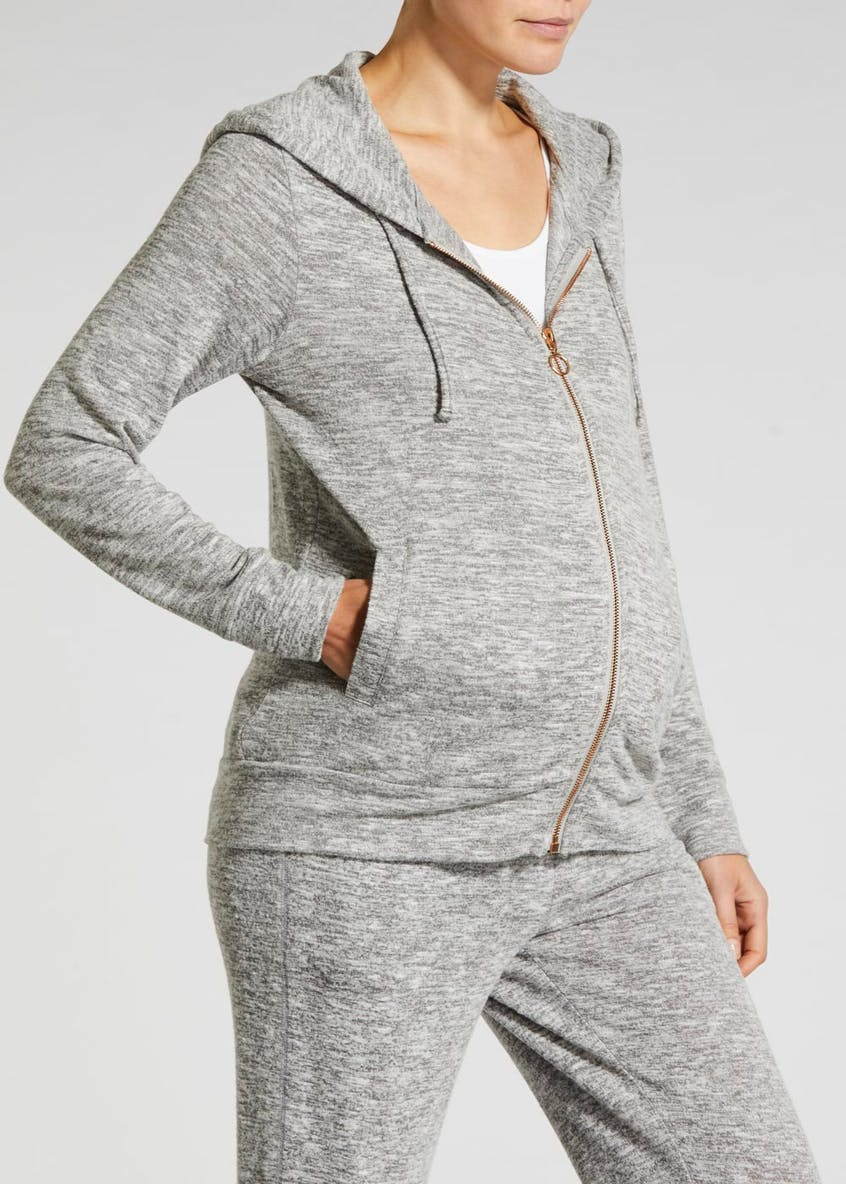 Maternity Soft Touch Zip Through Hoodie
