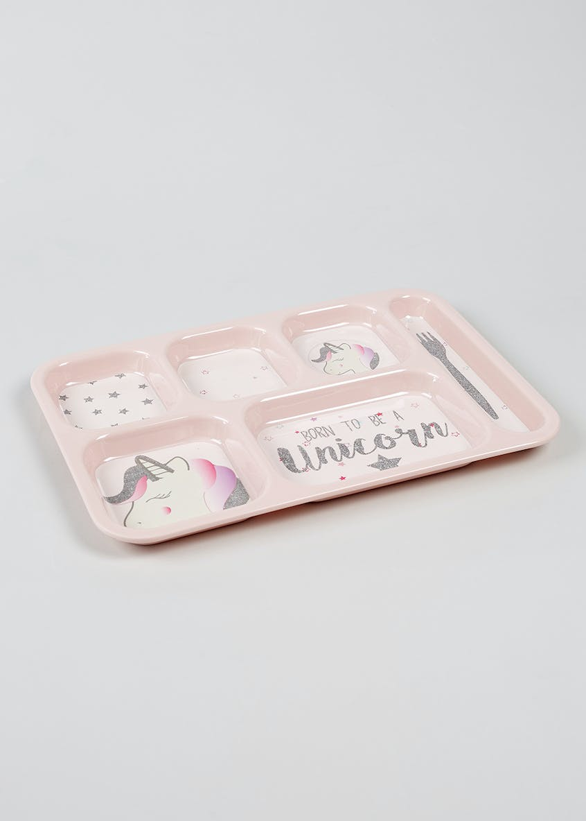 Kids Unicorn Sectioned Food Tray