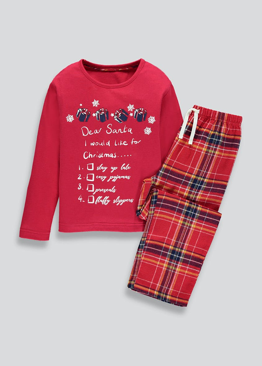 Kids Family Dear Santa Christmas Pyjama Set (3-13yrs)