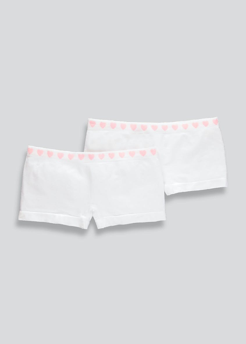 Girls 2 Pack Seam Free Boy Shorts (6-13yrs)