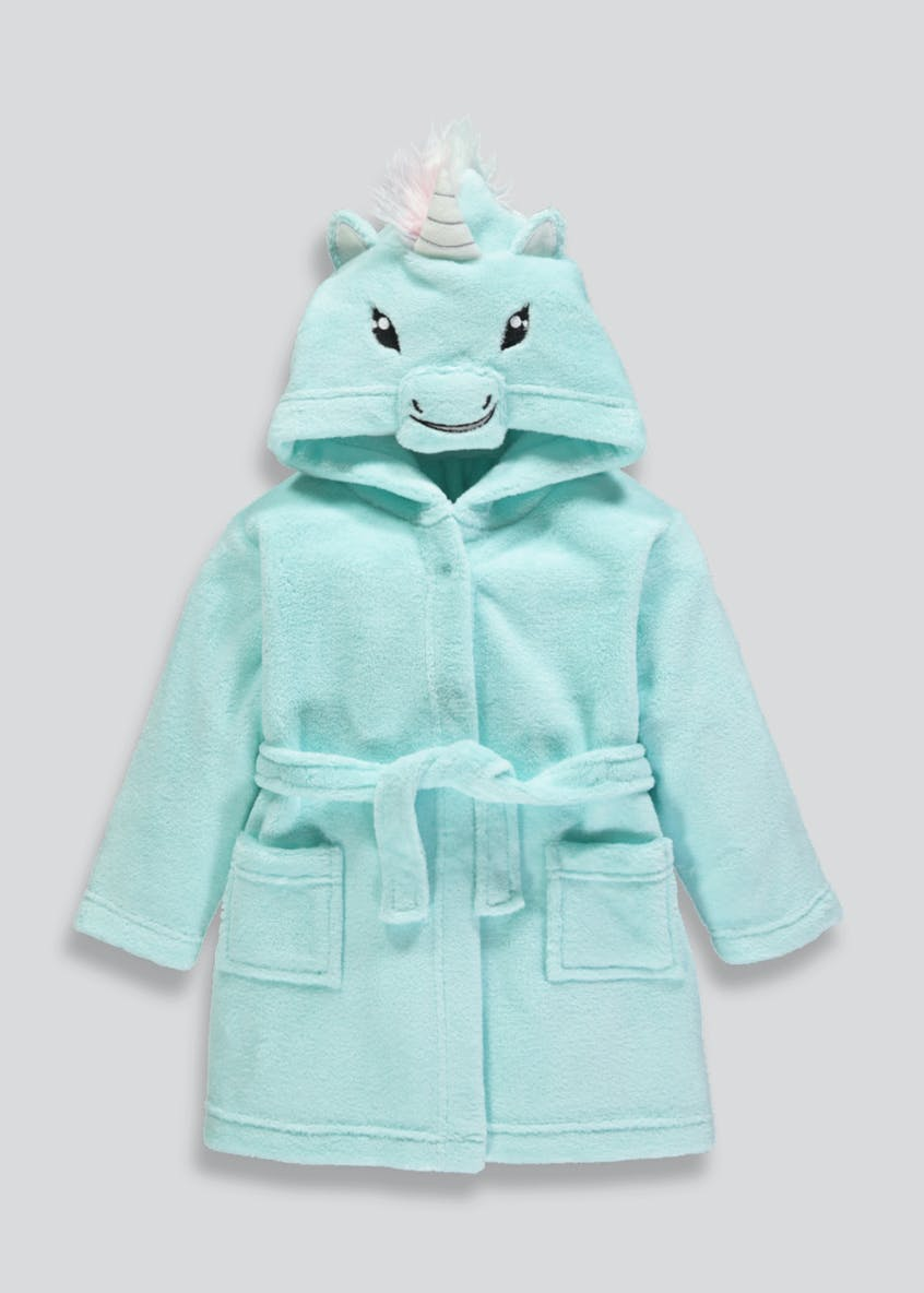 Kids Unicorn Hooded Dressing Gown (9mths-5yrs)