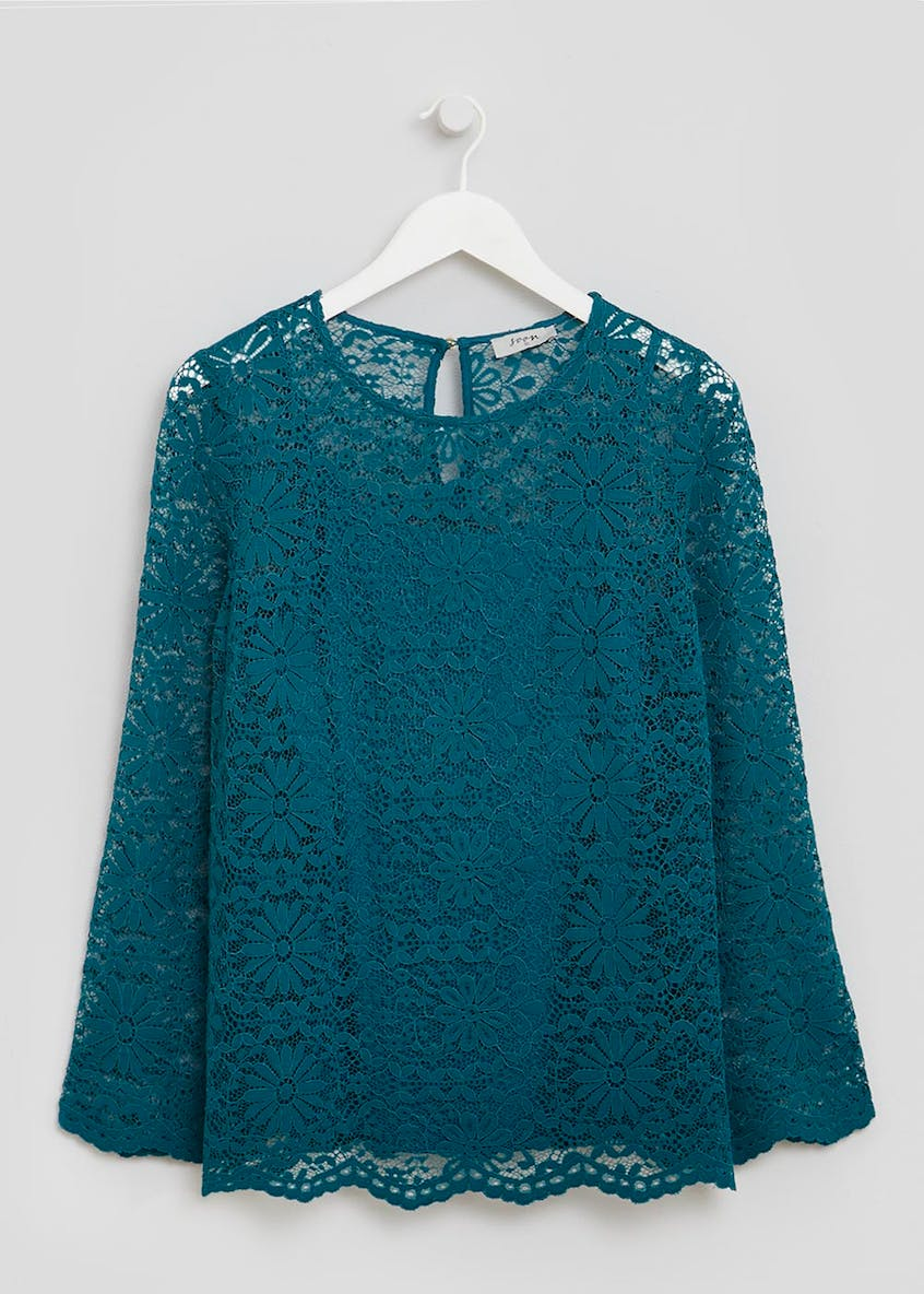 Soon Lace Bell Sleeve Blouse