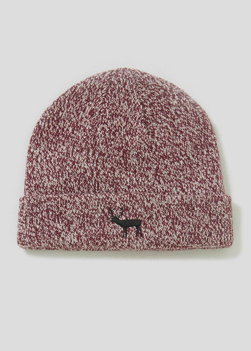 Stag Twisted Beanie Hat