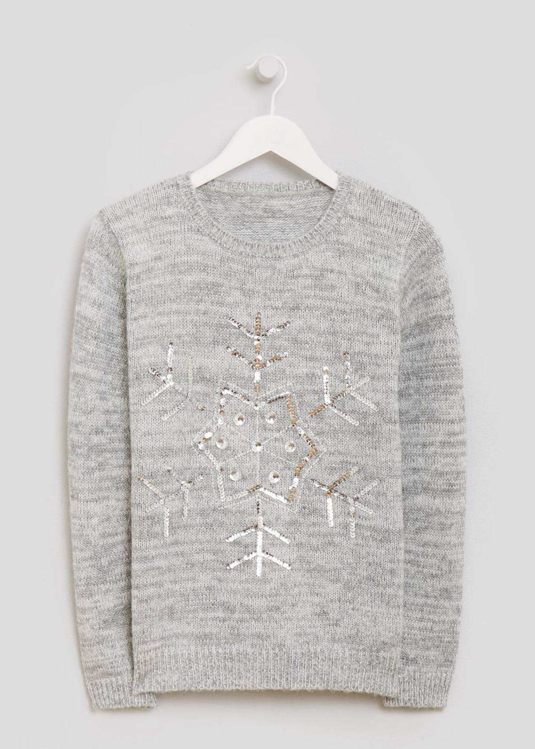 Sequin Snowflake Jumper