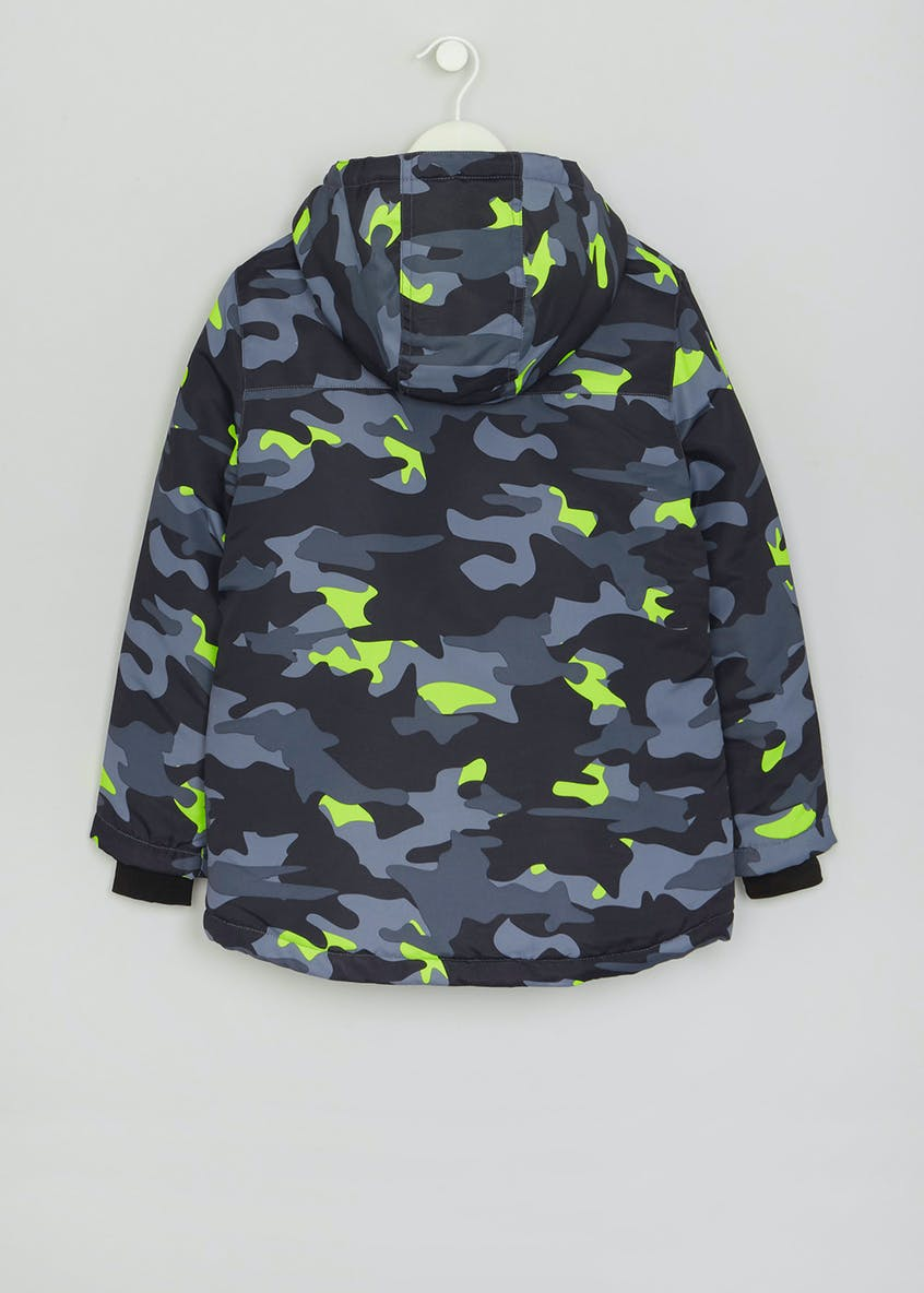 Boys Camo Padded Coat (4-13yrs)