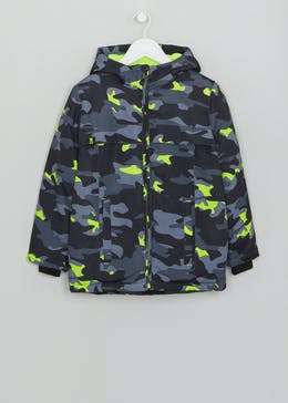104bbdd9d8fd Boys Camo Padded Coat (4-13yrs)