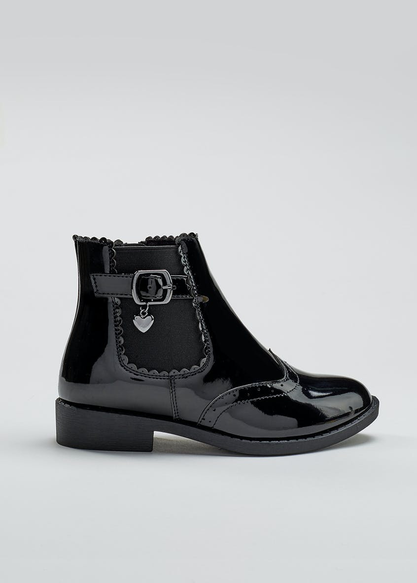 Girls Patent Chelsea Boot (Younger 10-Older 5)