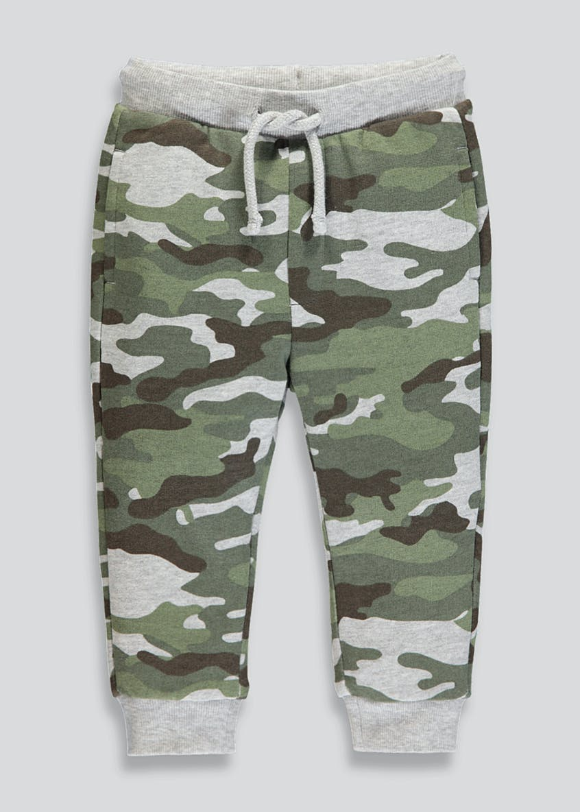 Boys Camo Brushback Jogging Bottoms (6mths-6yrs)