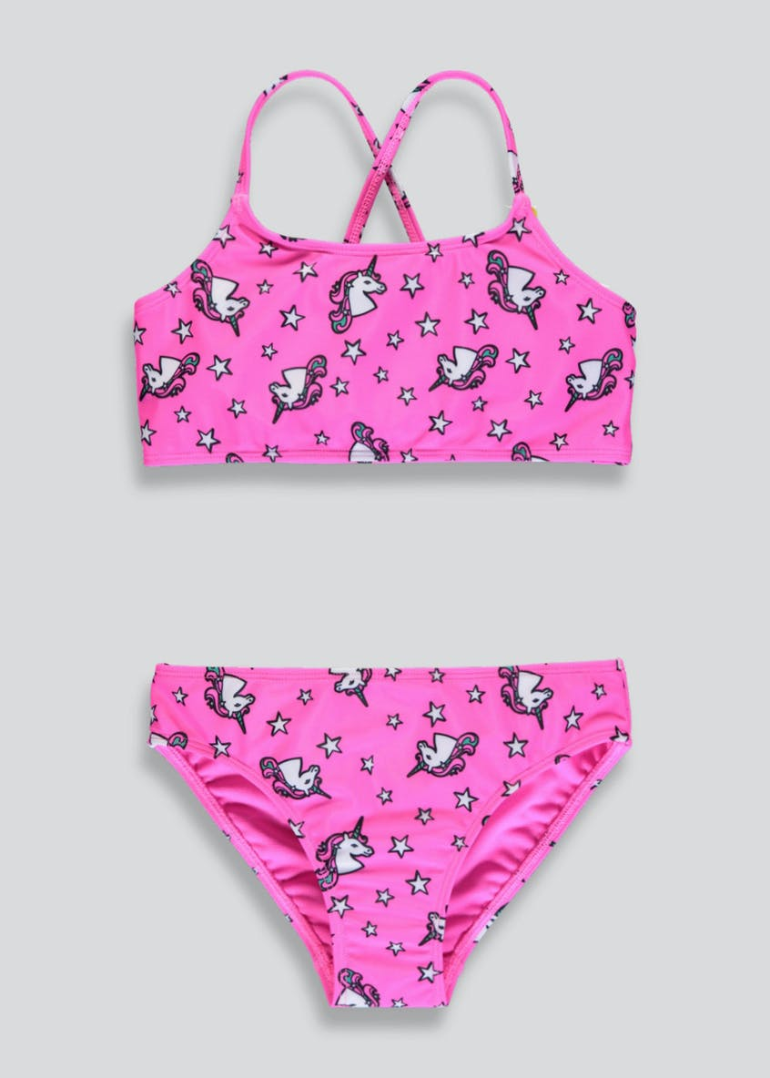 Girls Unicorn Bikini Set (4-13yrs)