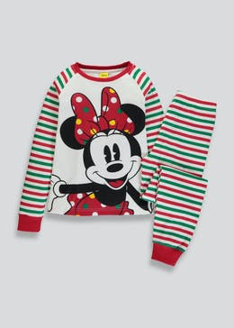 Mini Me Kids Minnie Mouse Christmas Pyjamas (12mths-10yrs)