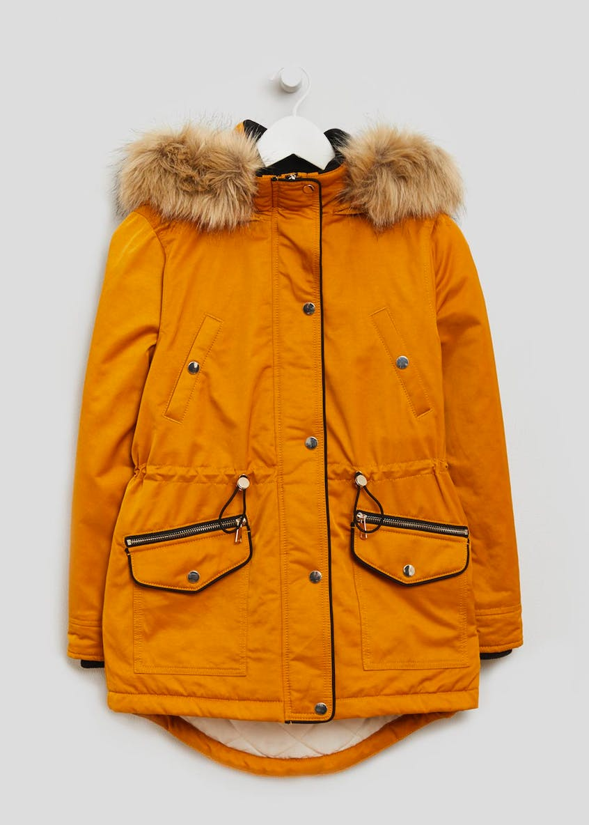 Papaya Petite Faux Fur Lined Hooded Parka
