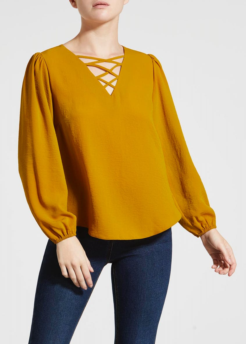 Papaya Petite Lattice Blouse