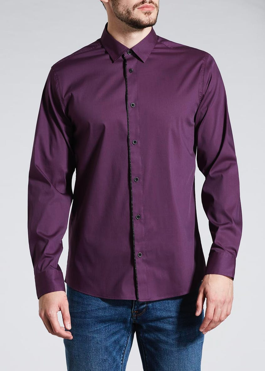 Plain Tape Collar Shirt