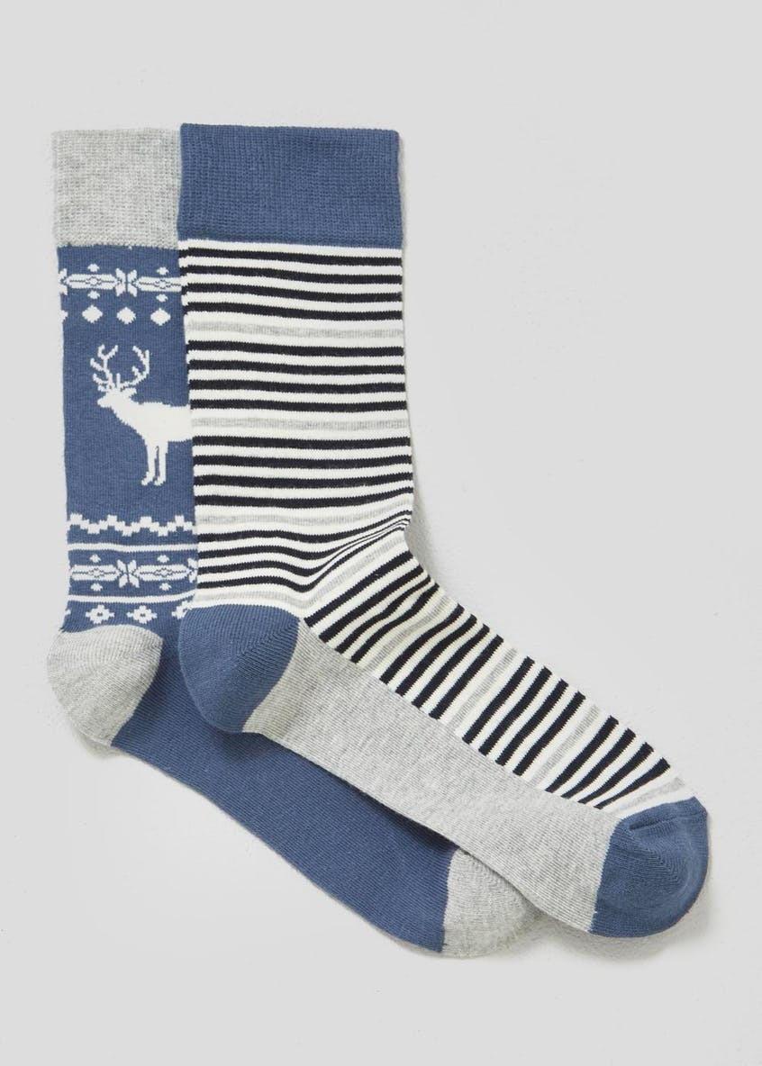 2 Pack Stag Christmas Socks