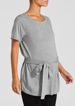 Maternity Tie Front Tunic