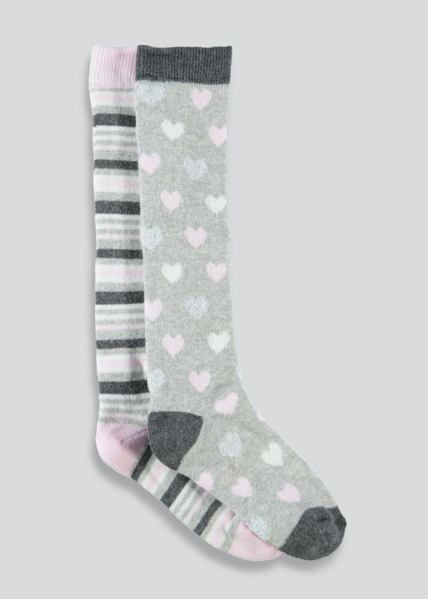 Girls 2 Pack Lurex Socks (Younger 6-Older 5.5)