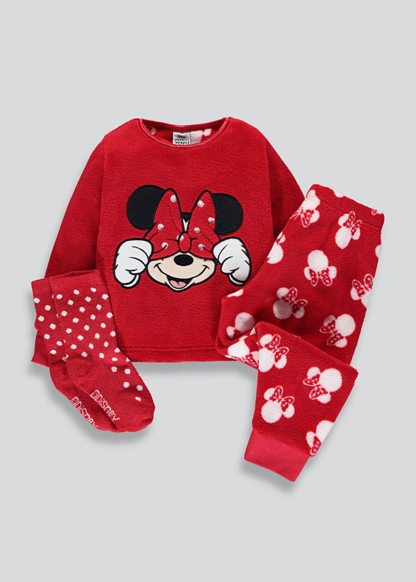 Kids Disney Minnie Mouse Fleece Pyjama Gift Box