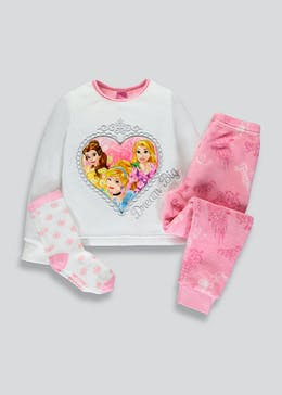 Mini Me Kids Disney Princess Fleece Pyjama Gift Box (2-9yrs)