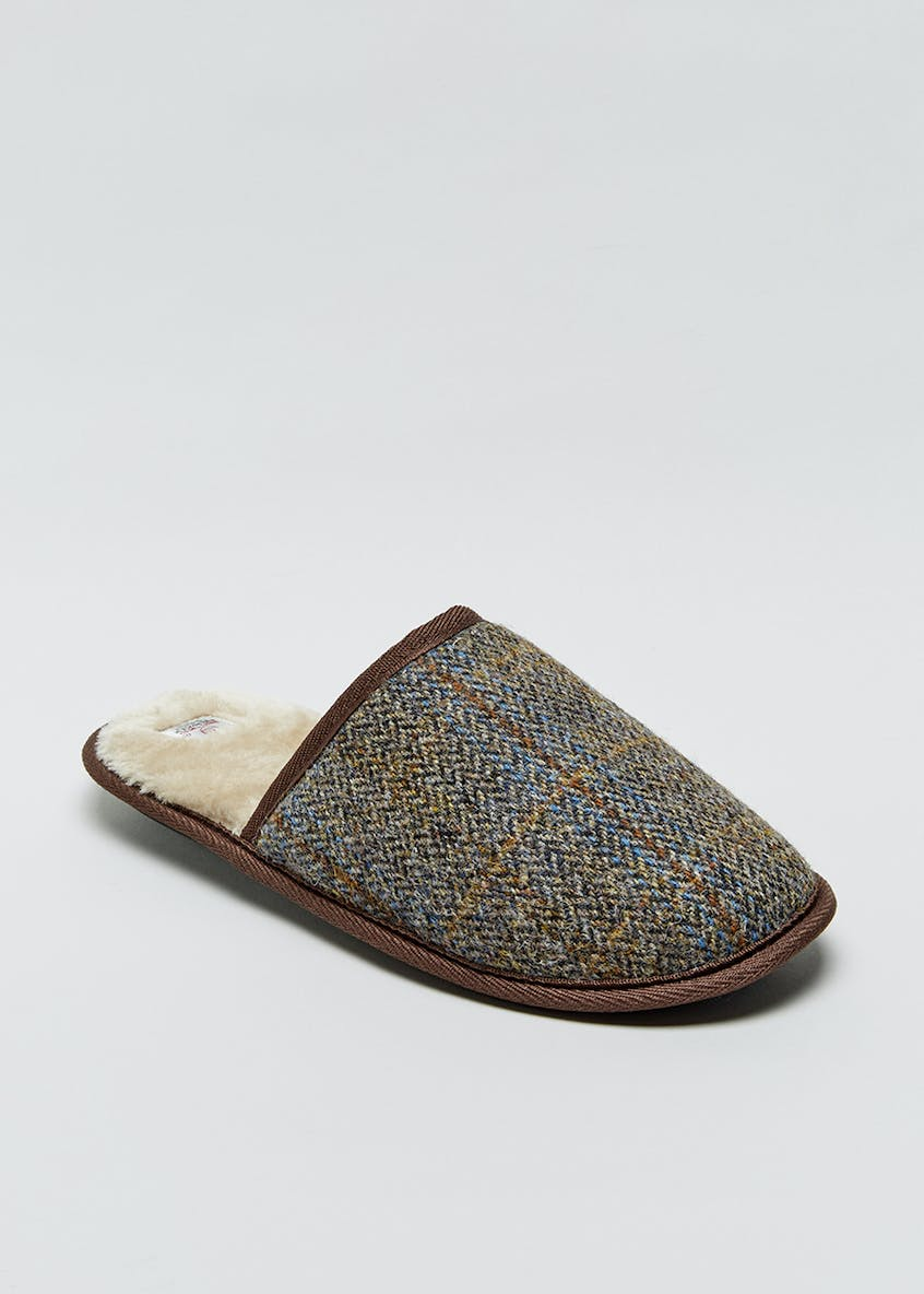 Tweed Mule Slippers