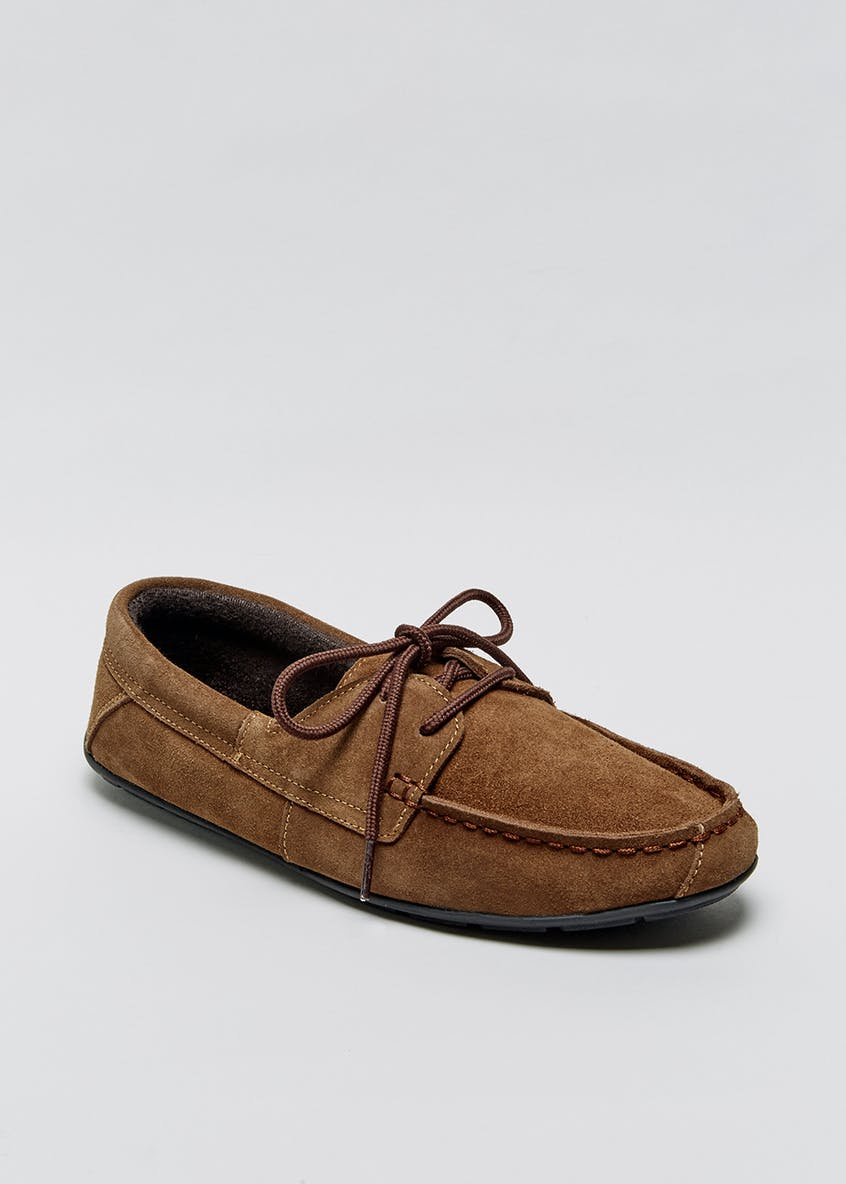 Real Suede Driver Slippers