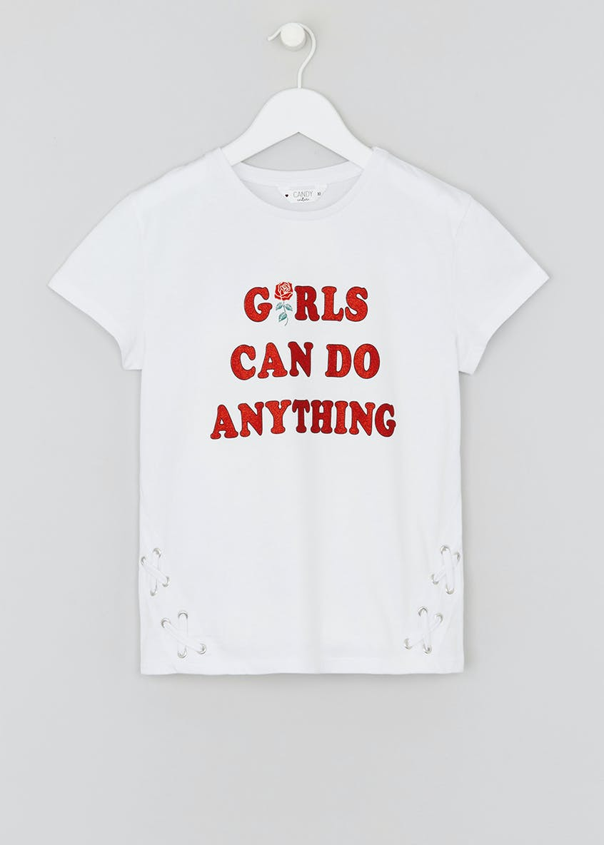 Girls Candy Couture Girls Slogan T-Shirt (9-16yrs)