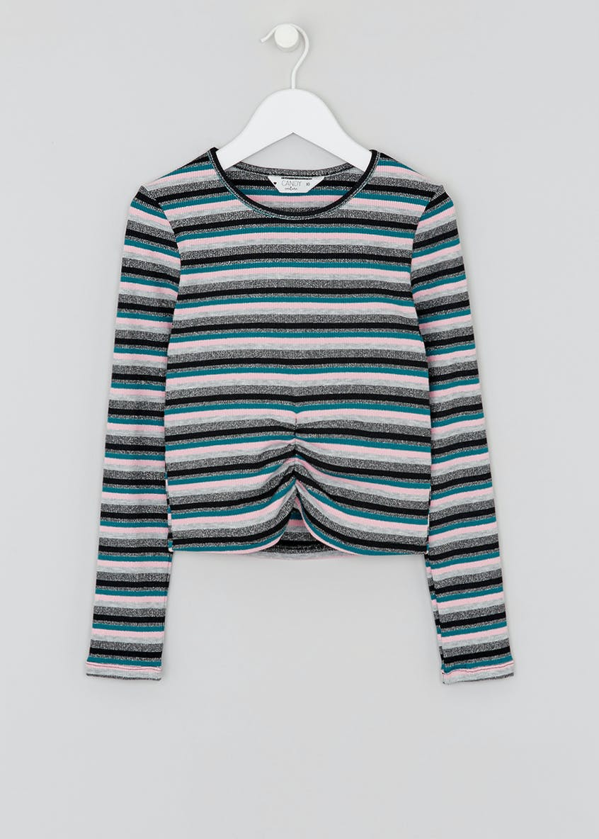 Girls Candy Couture Lurex Striped Top (9-16yrs)