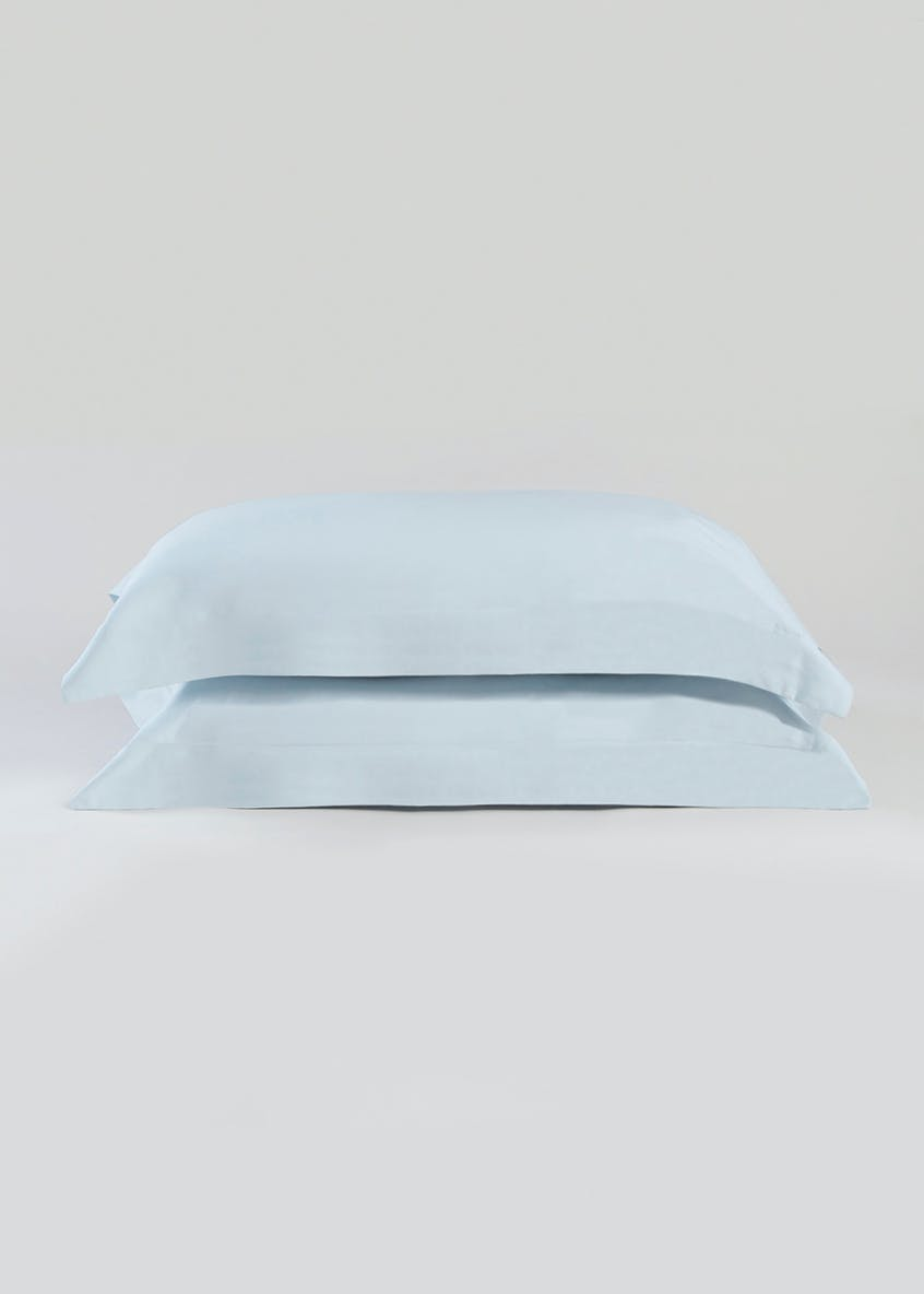 100% Cotton Sateen Oxford Pillowcase Pair (400 Thread Count)