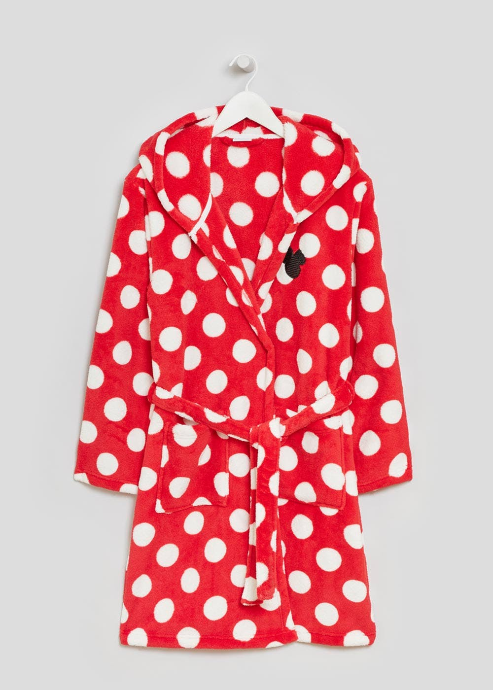 Disney Minnie Mouse Dressing Gown Red Matalan