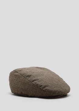 Mini Check Flat Cap