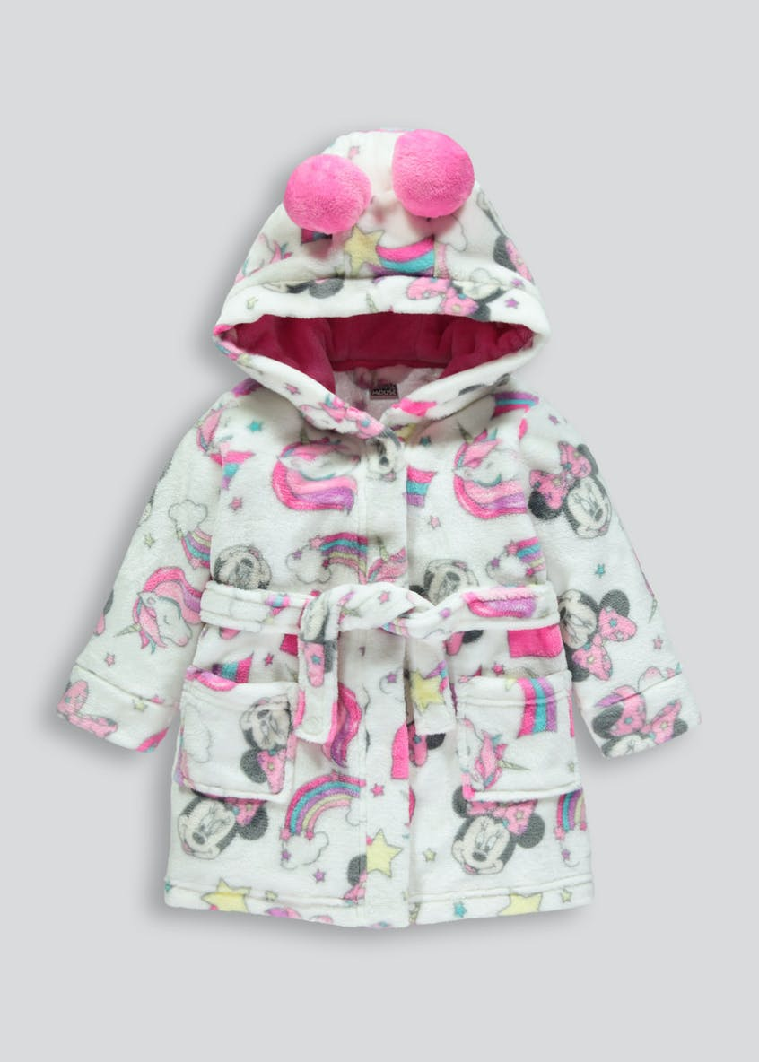 Kids Disney Minnie Mouse Dressing Gown (3mths-6yrs)