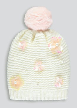 Girls Jewel Bobble Hat (12mths-4yrs)
