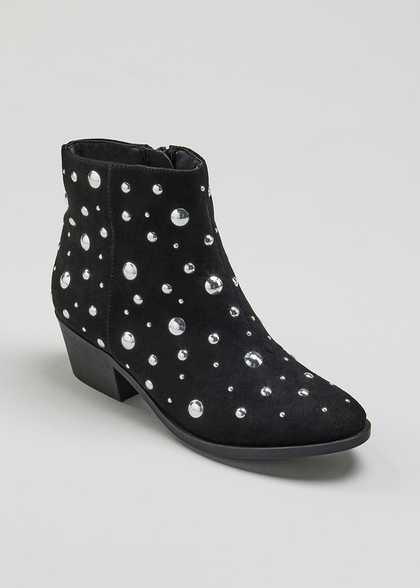Girls Studded Ankle Boots (Younger 10-Older 5)